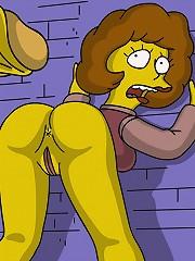 Simpsons in their perverse sexual fantasies.